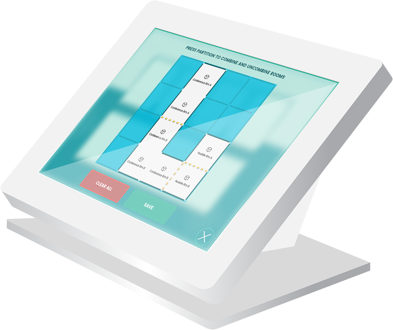 TouchPanel with ConnectPRO Room Combine Interface