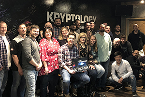 Company team members at Kryptology Escape Room