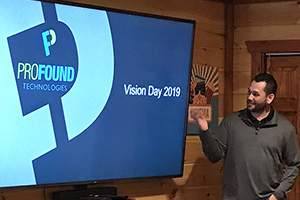 West coast project manager giving Vision Day 2019 presentation