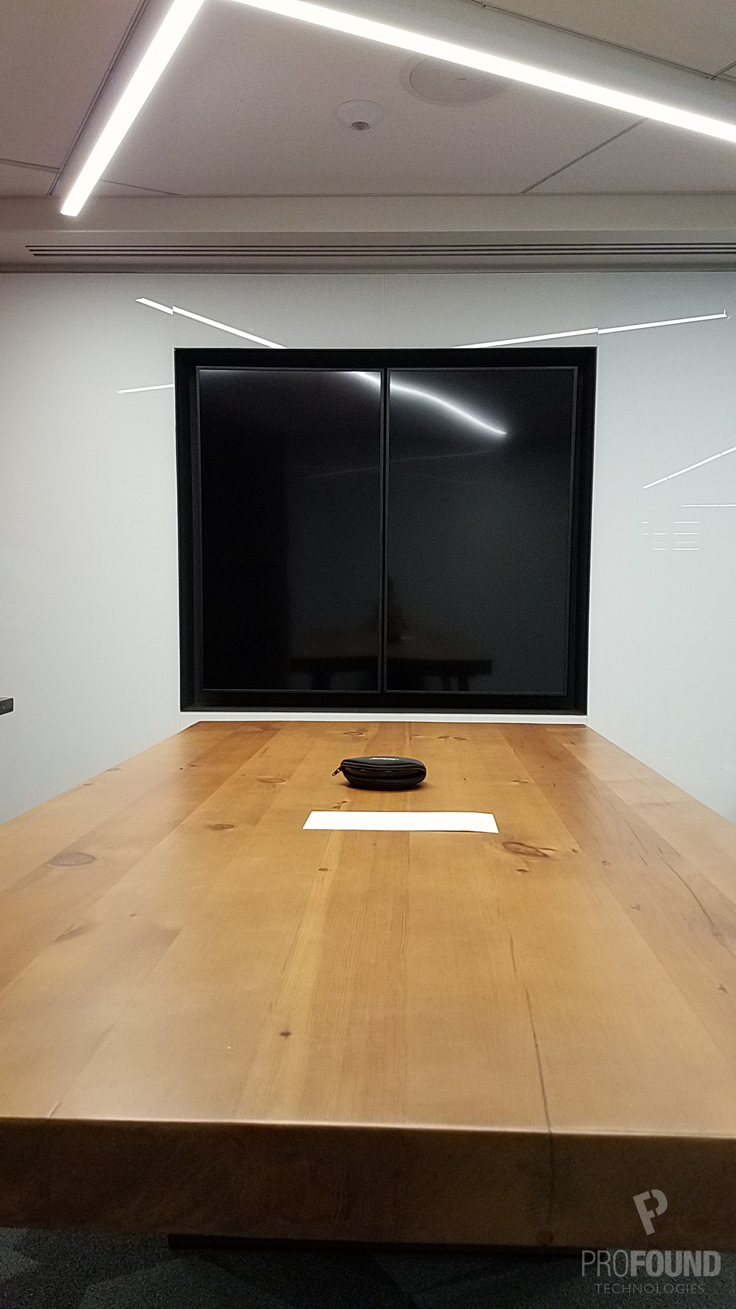 Commercial Single Display in Conference Room with Tabletop Mic