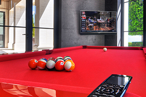 Pool Table with Crestron Smart Remote