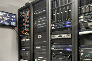 Right Angle View of Server Rack