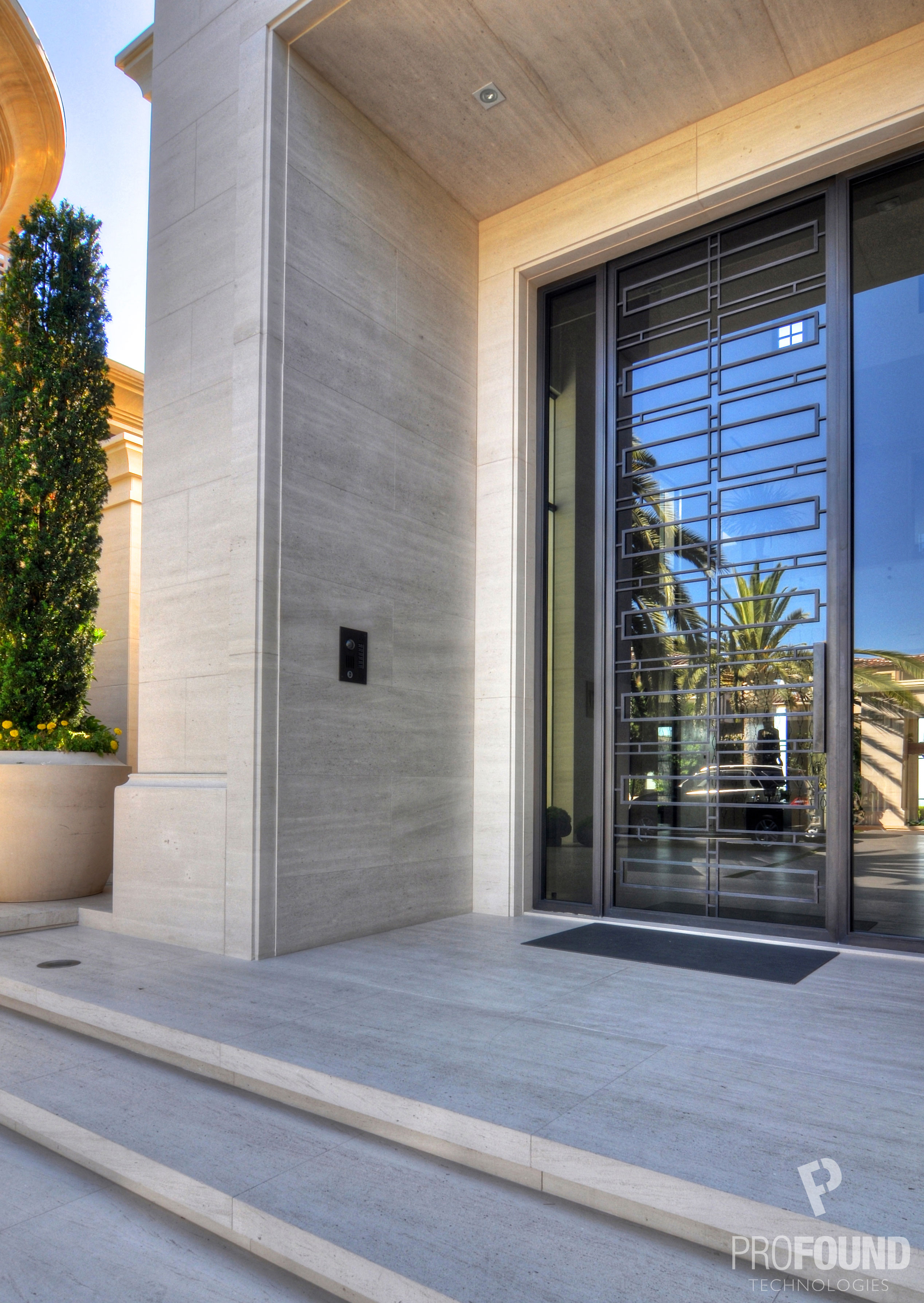 Main Door Entrance with Security Keypad